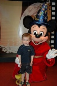 son and Mickey at WDW