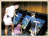 kids in key west on glass bottom boat