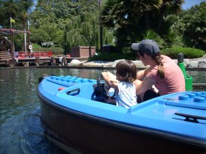 driving boats at Legoland