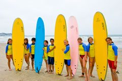 Camps for older children include surfing and snorkeling lessons.