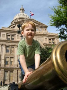 Photo: Andy Rhodes; Max at Texas State Capitol