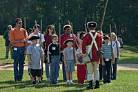 Colonial Williamsburg's guests can take part in drilling exercises in preparation for the fight for independence.