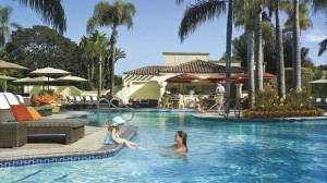 family in pool at ritz carlton laguna niguel
