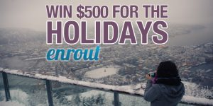 enter to win $500 toward a trip through enrout.com