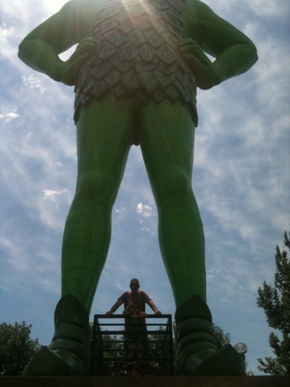 Jolly Green Giant Statue - copyright Stephany Wiestling - all rights reserved.