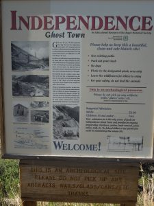 Independence Ghost Town - photo copyright Stephany Wiestling - all rights reserved.