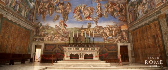 Sistine Chapel Altar - photo courtesy of Dark Rome Tours