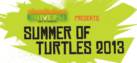 Summer of Turtles 2013 at MOA - photo courtesy nickelodeonuniverse.com