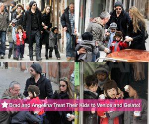 Gelato for the Jolie-Pitt clan - photo courtesy PopSugar.com