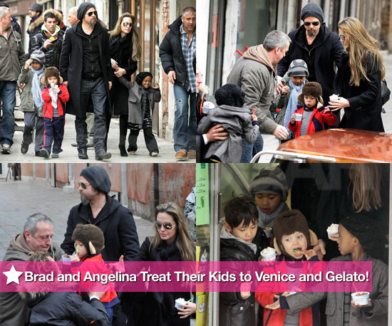 Gelato for the Jolie-Pitt clan - photo courtesy PopSugar.com
