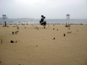 Chowpatti Beach (Girgaum Chowpatty) via Wikipedia