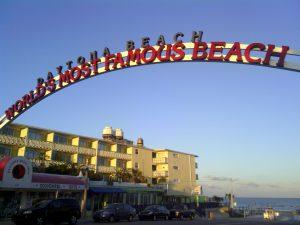 photo of sign: Daytona Beach, World's Most Famous Beach