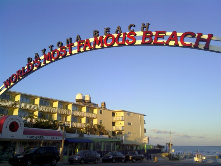 photo of sign: Daytona Beach, World's Most Famous Beach
