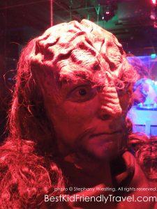 Klingon head at Star Trek: The Exhibition at Mall of America®