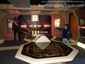 giving orders at Star Trek: The Exhibition at Mall of America®