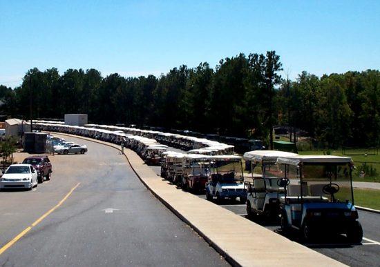 golf cart parking at McIntosh High 2