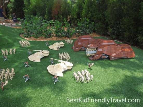 Droid Army on Naboo in Miniland at LEGOLAND Florida from BestKidFriendlyTravel.com