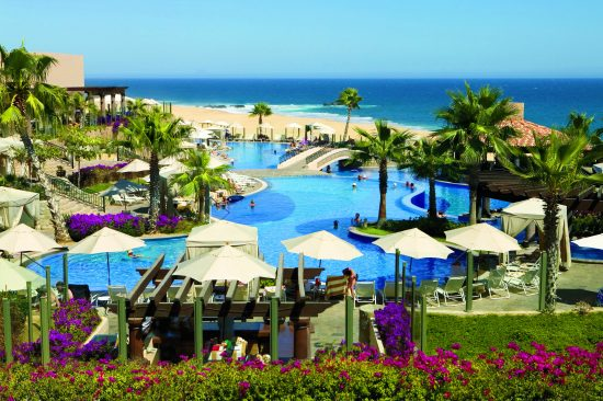 photo of the beautiful pools and beach at Pueblo Bonito Sunset Beach Resort