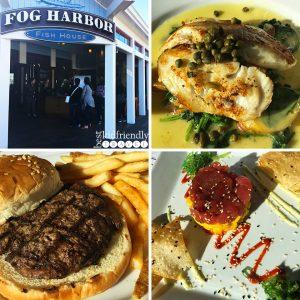 Dinner at Fog Harbor Fish House on Pier 39 at Fisherman's Wharf in San Francisco, California