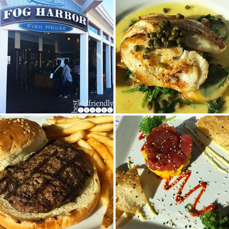 Dinner at Fog Harbor Fish House on Pier 39 at Fisherman's Wharf in San Francisco, California
