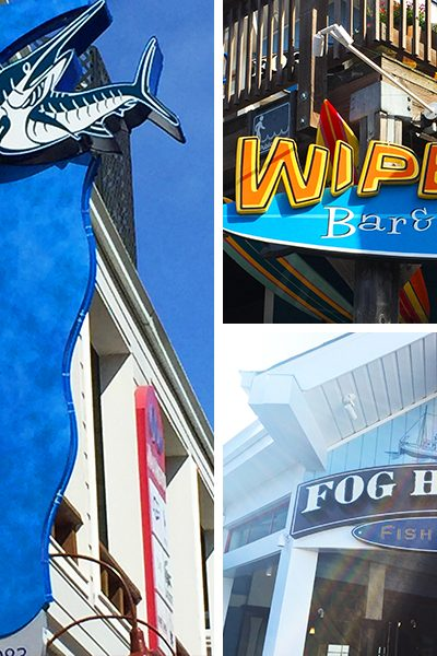 3 Kid-friendly restaurants on Pier 39 at Fisherman's Wharf in San Francisco, California