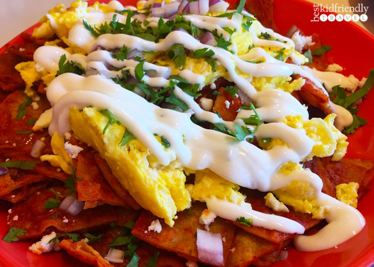 Breakfast chilaquiles at Wipeout Bar & Grill on Pier 39 at Fisherman's Wharf in San Francisco, California